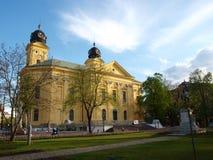 Debrecen Great Church. The big church of Debrecen from the garden of ruins Stock Images