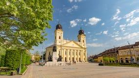 04 12 2017 - Debrecen, Hongarije, mening van het stadscentrum, mooi stadslandschap stock afbeelding