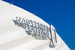 DEBRECEN, HONGARIJE - NOBEMBER 1, 2015: Nagyerdei Stadion Het is het huisstadion van FC Debrecen Open 1 Mei, 2014 Royalty-vrije Stock Foto's
