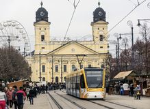 Reformed Great Church in Debrecen city, Hungary. Royalty Free Stock Images