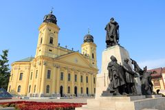 Debrecen, Hungary. Town in Hajdu-Bihar county. Great Reformed Church Stock Photography