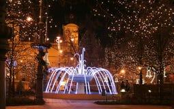 Debrecen im Weihnachten stockbild