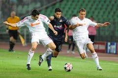 Debrecen - Lyon UEFA Champions League match Stock Images