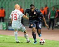 Debrecen - Lyon UEFA Champions League match Stock Photo