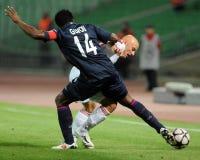 Debrecen - Lyon UEFA Champions League match Stock Image