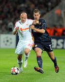 Debrecen - Lyon UEFA Champions League match Stock Photography