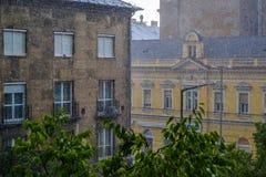 Debrecen regn Arkivbilder