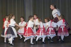 Debrecen stad, Ungern - Juni 11, 2014 - ungrare Royaltyfria Foton