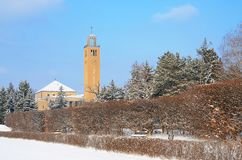 Debrecen University Library in winter Stock Photo
