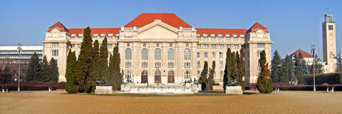 Debrecen Universty main Facade Royalty Free Stock Photos
