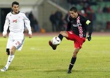 Debrecen versus PSV Eindhoven 1-2 Stock Foto's