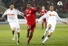 Debrecen vs Liverpool UEFA Champions League match Royalty Free Stock Photo