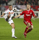 Debrecen vs Liverpool UEFA Champions League match Royalty Free Stock Photos