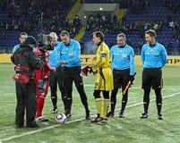 debreceni足球比赛metalist uefa 图库摄影