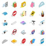 Debriefing icons set, isometric style. Debriefing icons set. Isometric set of 25 debriefing vector icons for web isolated on white background Royalty Free Stock Images