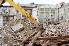 Debris. Pile of debris of a destroyed building Royalty Free Stock Photos