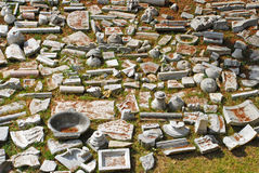 Debris at archaeological site. In Istanbul Royalty Free Stock Photos
