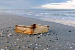 Debris on the beach Stock Image