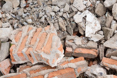 Debris construction site Stock Images