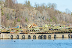 Debris at docks Royalty Free Stock Photography