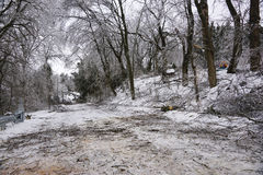 Debris During Clean Up From Ice Storm Of 2013 Royalty Free Stock Photography