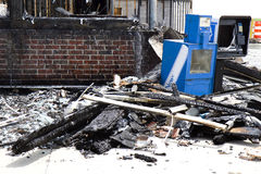 Debris after Fire Royalty Free Stock Photography