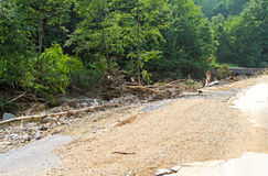 Debris after flood Royalty Free Stock Photography