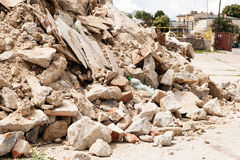 Debris, garbage bricks and material from building Stock Photography