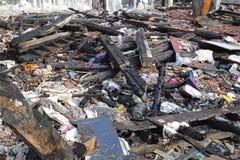 Debris in Garment Factory Royalty Free Stock Photos
