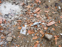 Debris on the ground Royalty Free Stock Photo