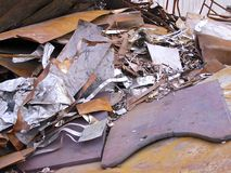 Debris at ironworks Royalty Free Stock Image