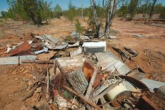 Debris junk pile Royalty Free Stock Photos