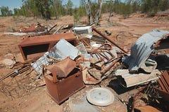 Debris junk pile. Pile of debris of metal scrap Royalty Free Stock Photo