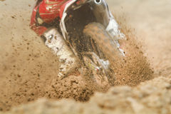 Debris from a motocross race Stock Photo