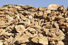 Debris of an old stonewall Stock Image