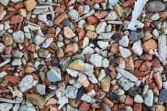 Debris pile closeup stock photo