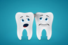 Debris stuck between the teeth and they are afraid of Royalty Free Stock Images