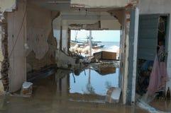 The debris after the tsunami at Hikkaduwa in Sri Lanka Stock Photography