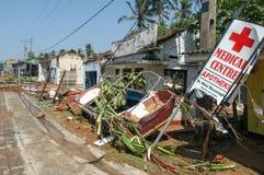 The debris after the tsunami at Hikkaduwa in Sri Lanka Stock Photos