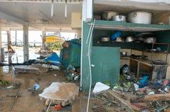 The debris after the tsunami at Hikkaduwa in Sri Lanka Royalty Free Stock Photography