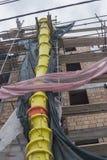 Debris tube for transporting debris Stock Photo