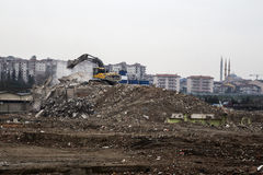 Debris. From urban renewal projects in Istanbul, Turkey Stock Images