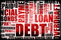 Debt. Financial Debt as a Abstract Background Concept Stock Image
