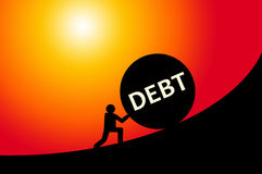 Debt. Having to deal with huge amounts of debt