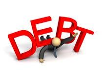 Debt. 3D image symbolizing the burden of business debt vector illustration