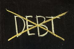 Debt Royalty Free Stock Photos