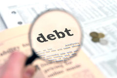 Debt royalty free stock images