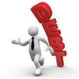 Debt. Computer Generated 3D Image - Debt vector illustration