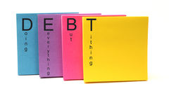 DEBT Acronym Stock Photography