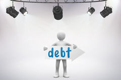 Debt against grey background Royalty Free Stock Photos